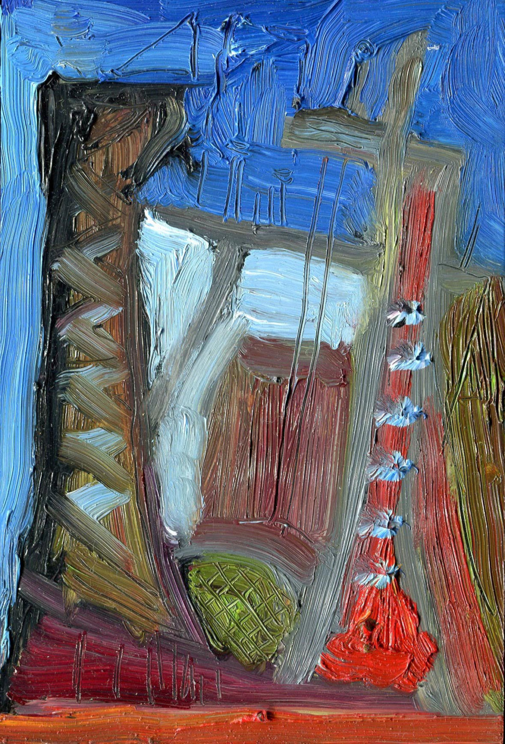 MIRROR QUAYS; Oil Painting